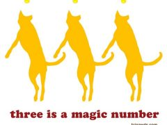 Three is a Magic Number Flying Three-Legged Dog Design