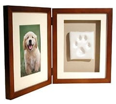 Paw Print Keepsake Shadowbox Photo Frame Kit