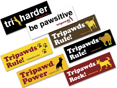 Tripawds Three Legged Dog Bumper Stickers