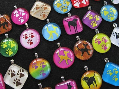Tripawds Three-Legged Dog Three Paw Charm Necklaces