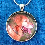 Tripawds Round Custom Photo Silver Pet Photo Pendant