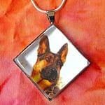 Tripawds Diamond Custom Photo Silver Pet Photo Pendant