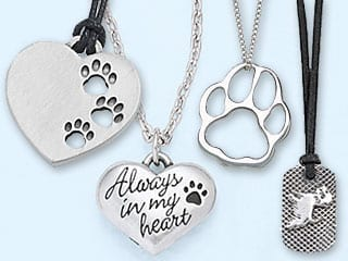 Unique Pet Lover Jewelry Dog Paw Pendants Lockets Earrings 