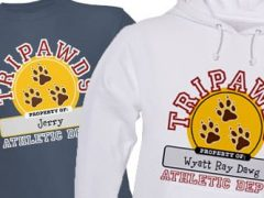 Customize Personalize Tripawds Athletic Dept. T-shirts