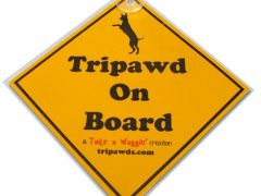 Tripawd On Board Window Placard