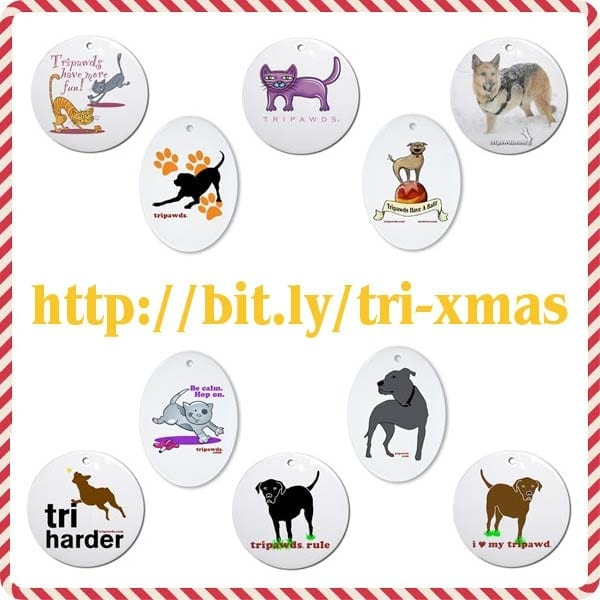 tripawds christmas cards & gifts