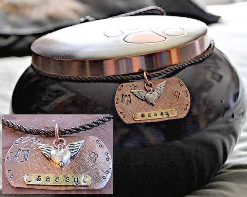 custom pet urn charm