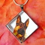 Tripawds Diamond Custom Photo Silver Pet Photo Pendant