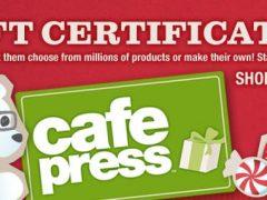 Send CafePress Gift Certificates