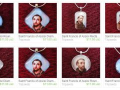 St. Francis Glass Pendant Charms