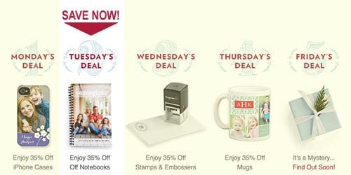 TinyPrints Cyber Deal Of the Day Notebooks