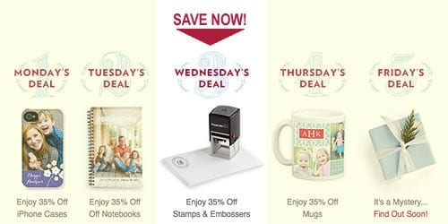TinyPrints Cyber Deal Of the Day Stamps