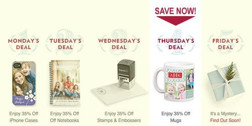 TinyPrints Cyber Deal Of the Day Mugs
