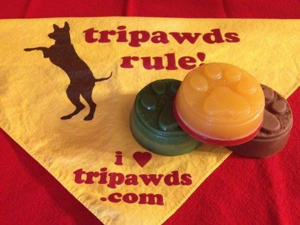 dog paw print handmade soap