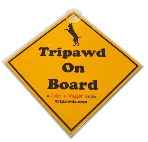 Tripawd On Board Window Placard