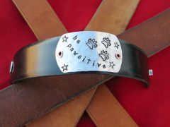 Recycled Belt Leather Wrist Cuff from Tripawds Etsy Store