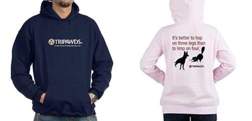 tripawds logo tagline t-shirt