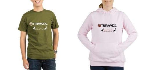 tripawds logo tagline t-shirts,