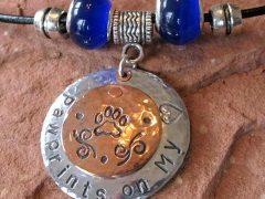 Custom Pawprints Metal Pendant