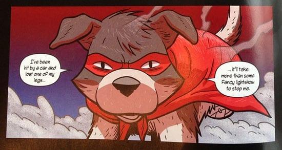 Piggy Three Legged Dog Superherp