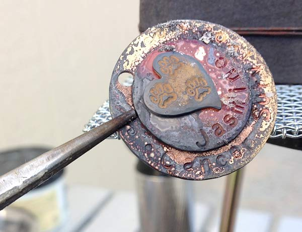Custom Soldered Tripawds Jewelry in Progress