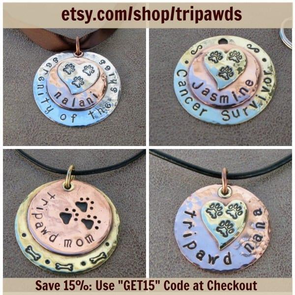 Tripawd custom jewelry