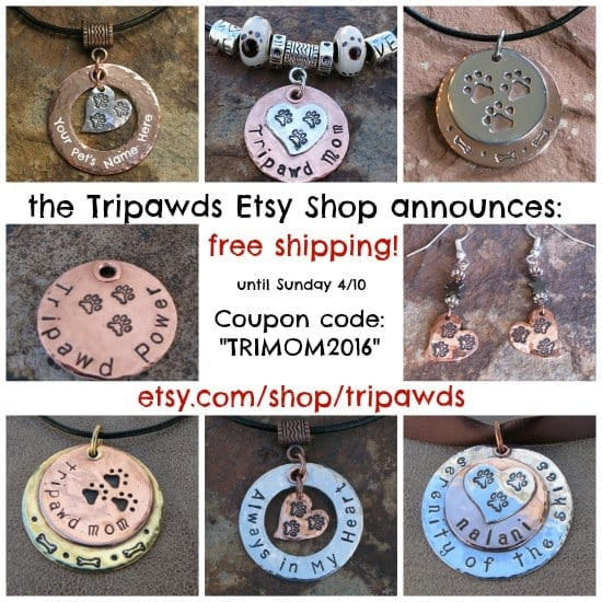 Tripawd Mom jewelry