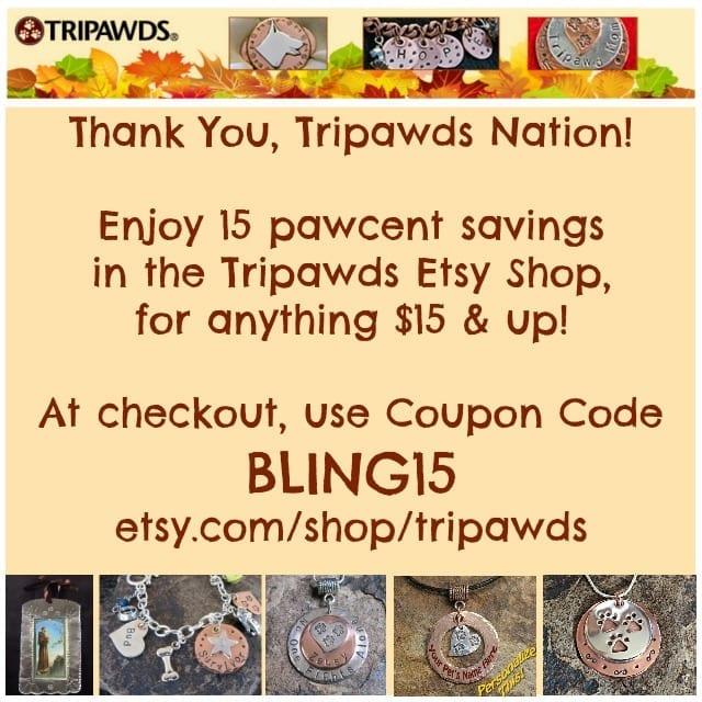 Tripawds, jewelry, coupon