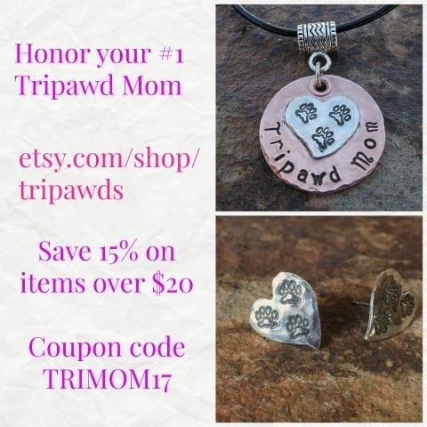 custom Tripawd jewelry