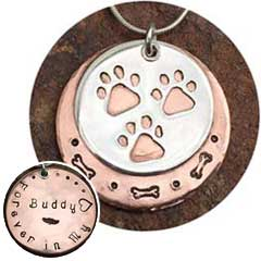 Three Paw Pendant Necklace