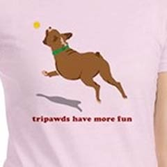 Front Tripawd T-shirts