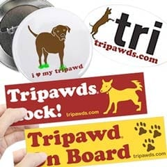 Tripawds Stickers & Buttons
