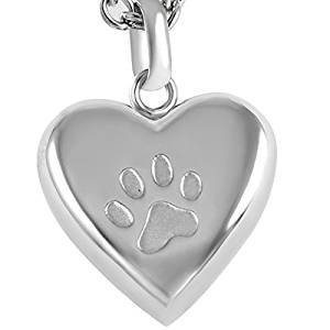 Silper Paw Heart Necklace