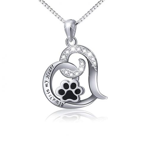 Paw Heart Silver Necklace
