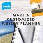 Blurb Custom Weekly Planner