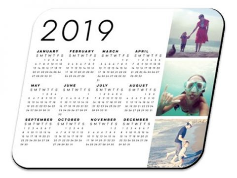 Custom Mousepad Calendar