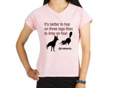 Tripawds Three Legged Pet Tagline T-shirt