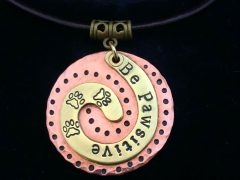 Be Pawsitive Pendant Necklace