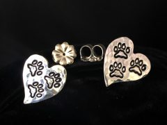 Tripawd paw print post earrings
