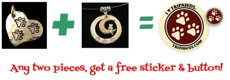 Tripawds jewelry cyber deal