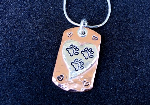 Tripawd Love Dog Tag Necklace